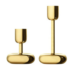iittala Nappula Candle Holders in Brass