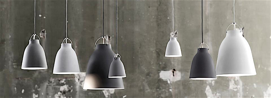 Industrial Modern featuring hanging pendant lamps