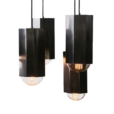 EXCLUSIVE John Beck Steel Sale featuring Hex Pendant Light