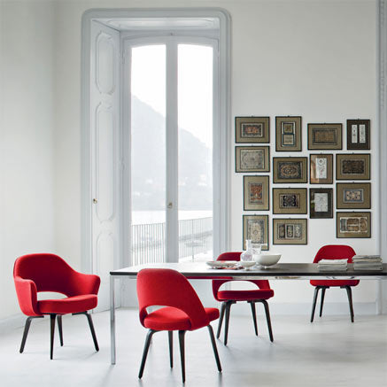 Knoll Saarinen Executive Chairs in Red