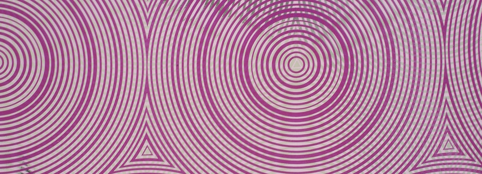 Modern Purple trend featuring wallpaper in psychedelic purple design