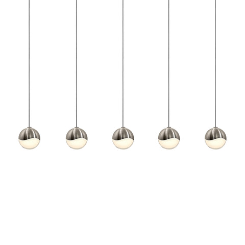 Grapes LED 5-Light Rectangle Canopy Pendant