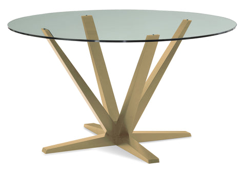 Aura Round Glass Top Dining Table