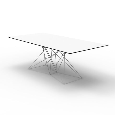 Faz Table Powder Coated Stainless Base - HPL
