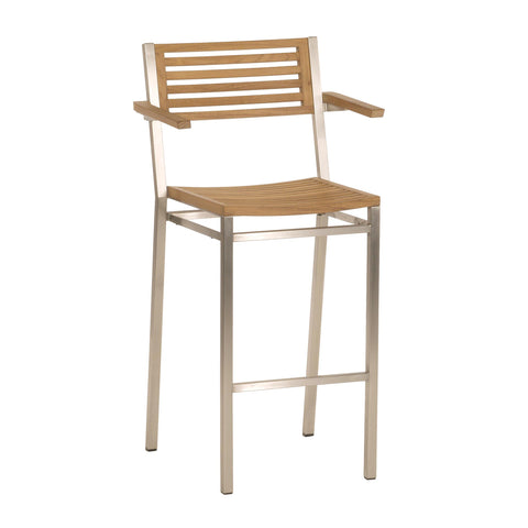Equinox High Dining Carver - Teak Seat & Back