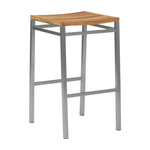Equinox High Dining Stool - Teak Seat & Back