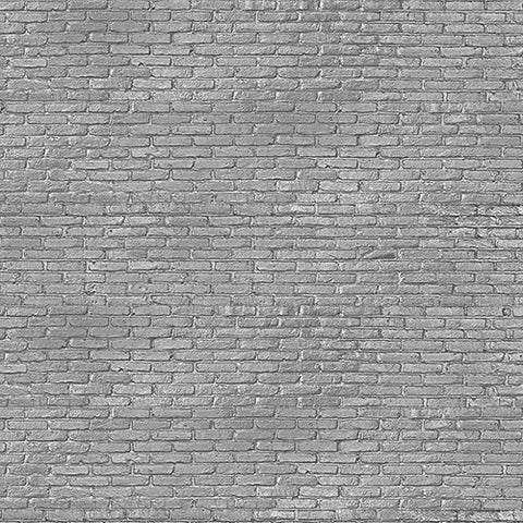 PHM-34 Silver Grey Brick Wallpaper