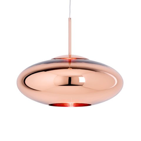 Copper Wide Pendant Light