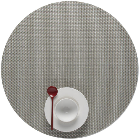 Mini Basketweave Round Placemat (Set of 4)
