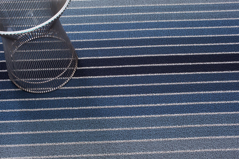 Block Stripe Shag Indoor Outdoor Mat
