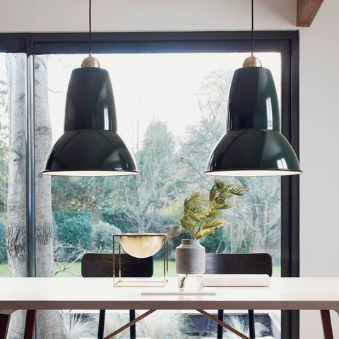 Original 1227 Giant Brass Pendant Light