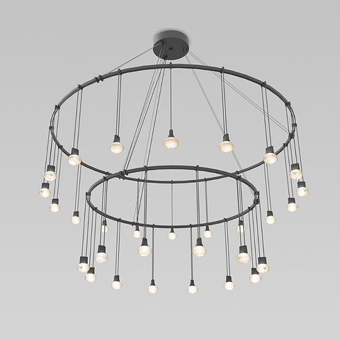"Suspenders 32""/48"" Double Ring Suspension Light"