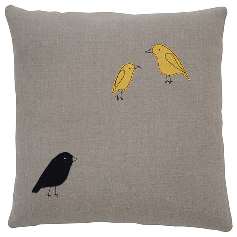 Galapagos Finches Pillow