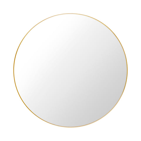 GUBI Mirror Round Ø110 cm Polished Brass