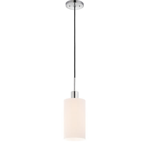 Glass 1 Light Cylinder Pendant
