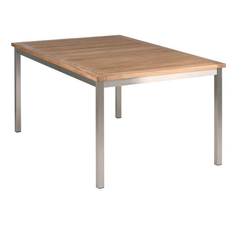 Equinox Dining Table with Teak Top