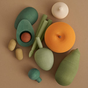 Wooden Vegetable Set Vol. 2