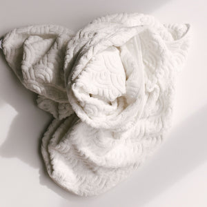 Hooded Toddler Towel | off white