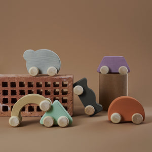 Wooden Shape Car | lilac