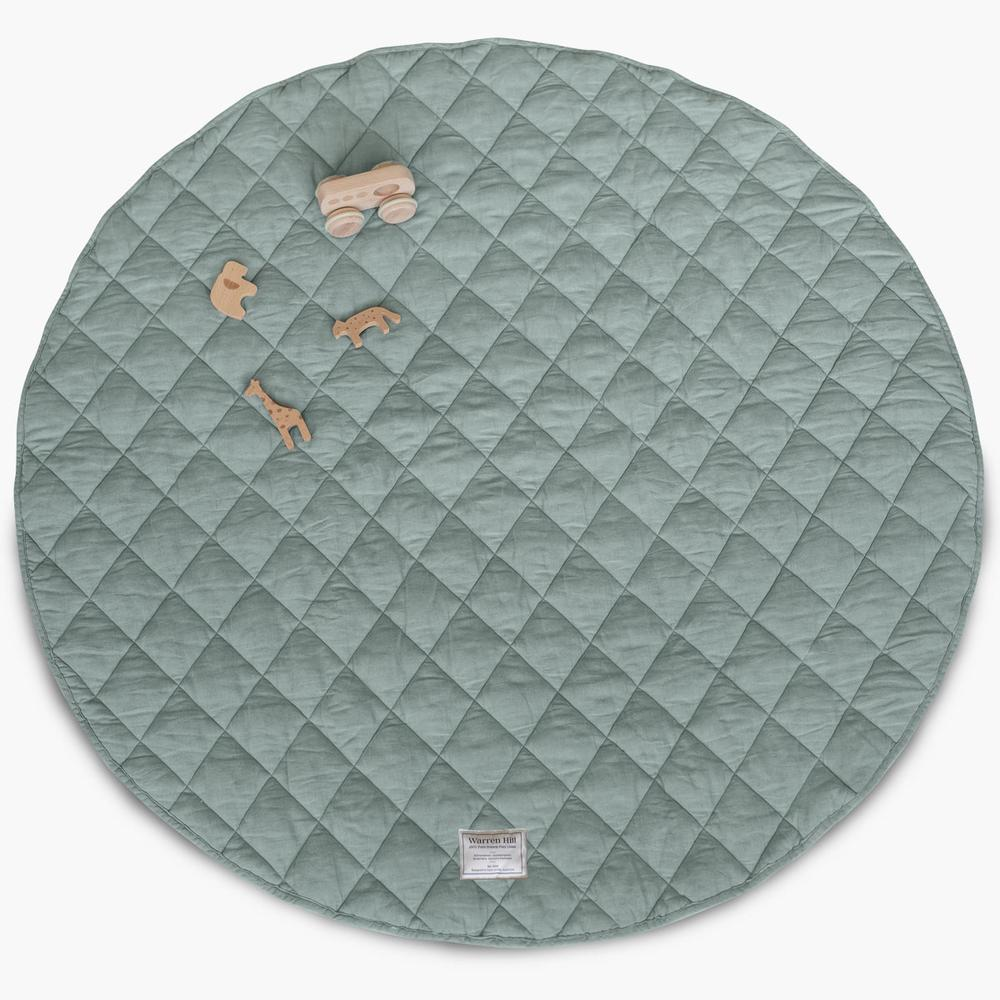 warren hill play mat | aqua