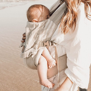 Snap Baby Carrier | NEW natural stripe