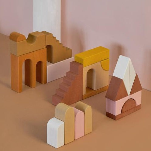 Wooden Apartment Building Blocks