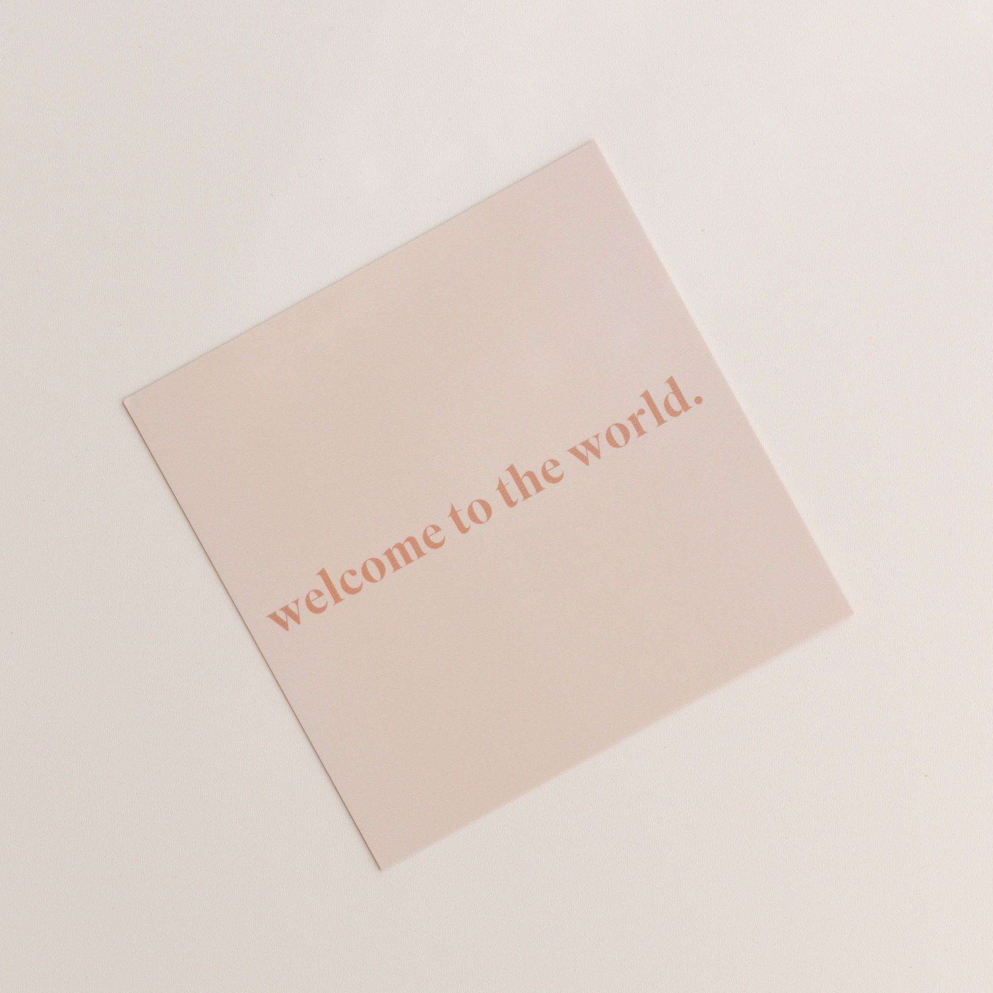 welcome to the world | gift card