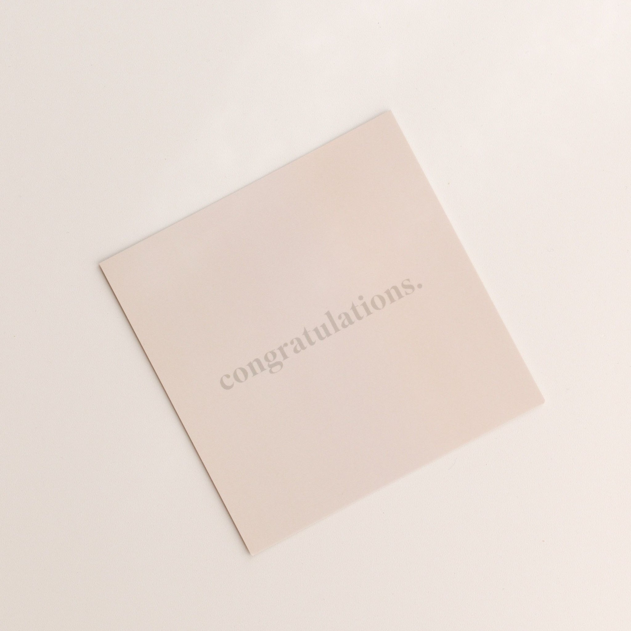congratulations | gift card