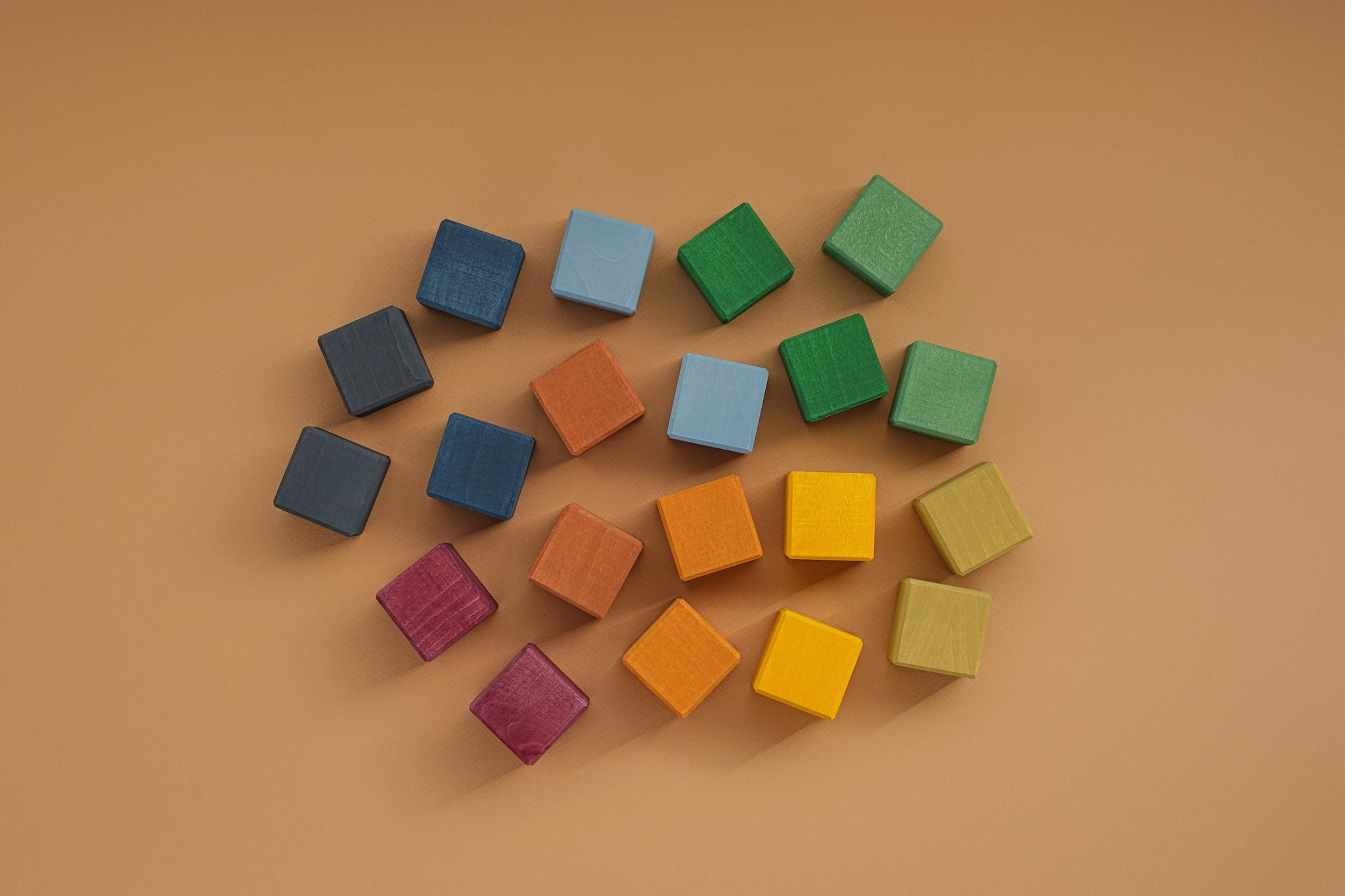Wooden Cubes Set | Earth
