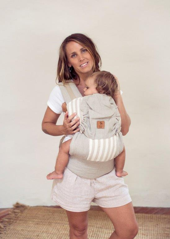 Snap Baby Carrier | natural stripe