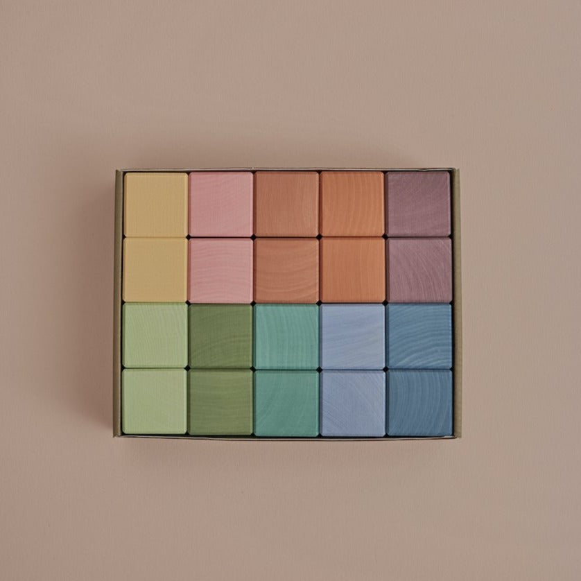 Wooden Cubes Set | Pastel