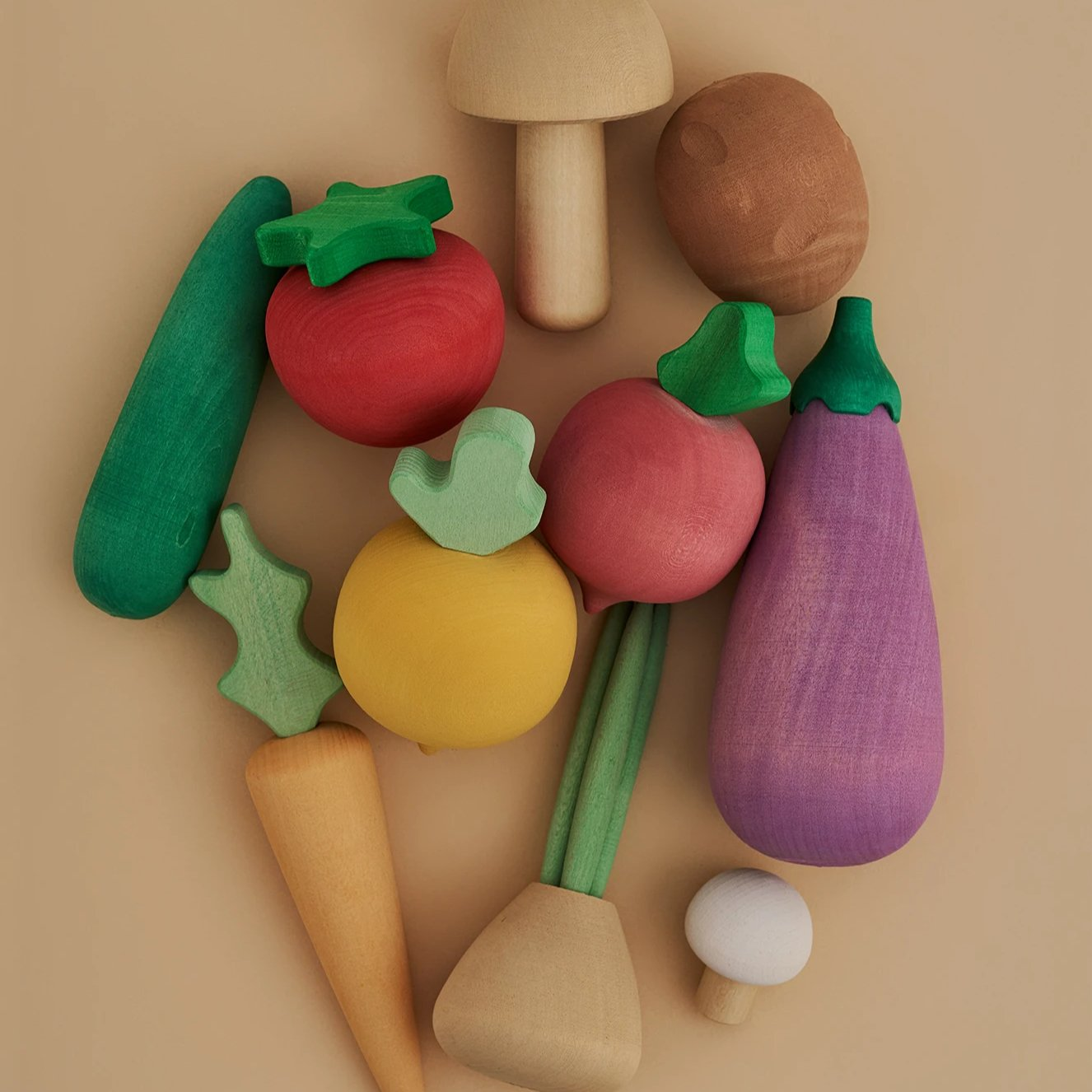 *PREORDER* Wooden Vegetable Set
