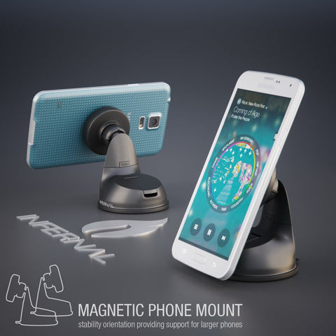 Universal Magnetic Phone Mount for Windshield & Dashboard