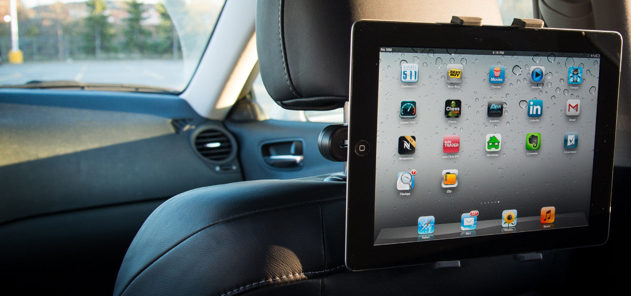 Headrest tablet mount