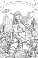 MARS ATTACKS RED SONJA #1 7 COPY STRATI SKETCH VIRGIN FOC IN