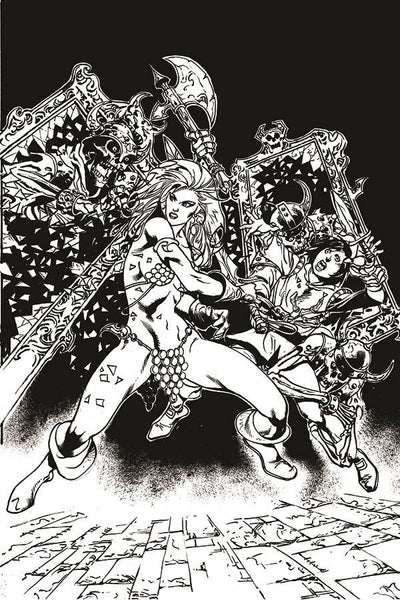 KILLING RED SONJA #4 15 COPY CASTRO B&W VIRGIN FOC INCV Pre-Sale, Releases 10/14/20