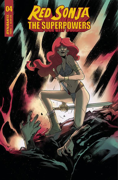 RED SONJA THE SUPERPOWERS #4 CVR F PINNA Preorder, expected 4/14
