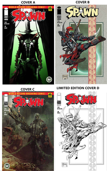 SPAWN 310 MEGA DEAL BUNDLE!  TOTAL OF 4 COVERS! INCLUDING LIMITED EDITION CVR D