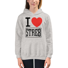 Load image into Gallery viewer, STREB/Voodo Fé I <3 STREB Pullover Youth Hoodie