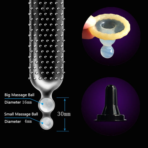 Double Beads Massage Condom Big Particle Condoms for Men