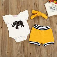 Elephant Mia Tees And Shorts With Headband Full Set