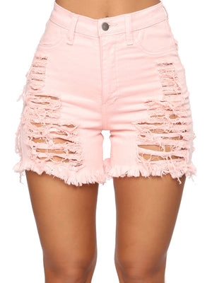 Styleish Mid Waist Ripped Shorts