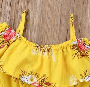 Lil Mama Ruffle Floral Crop Set