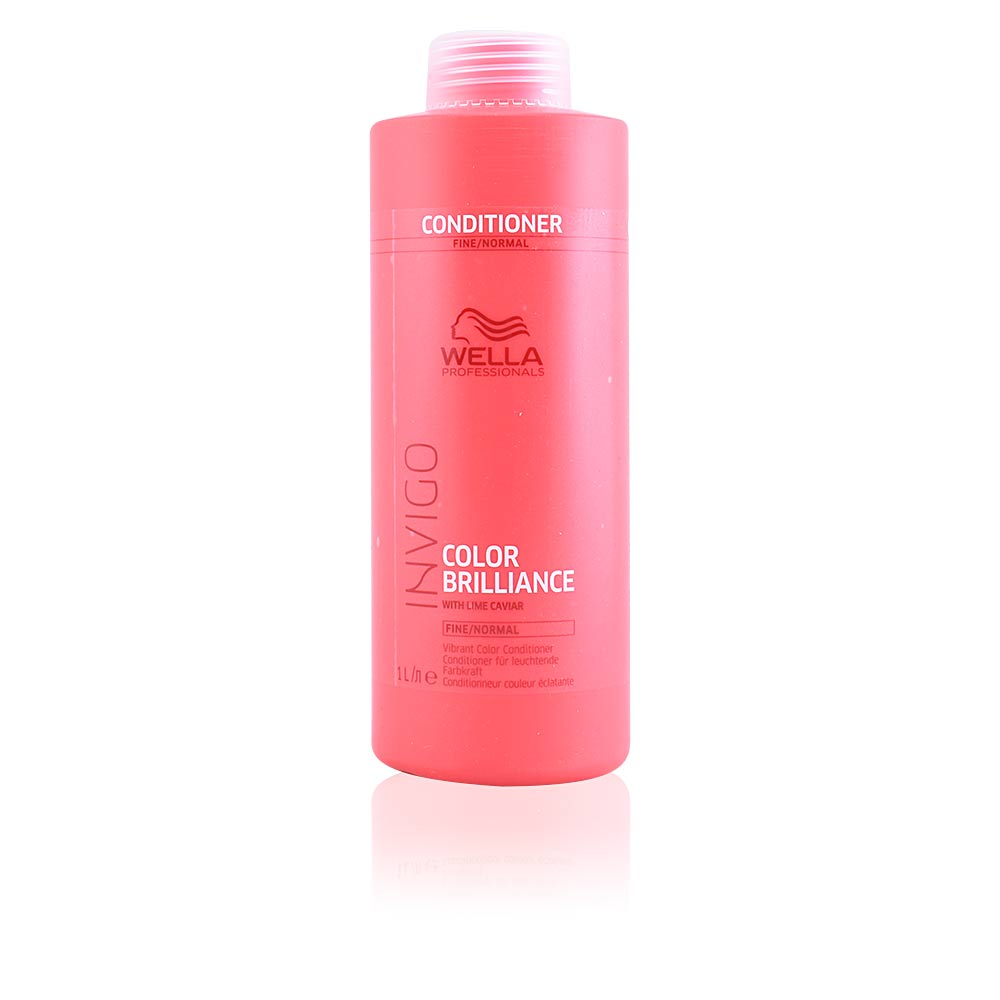 Wella Professional Invigo Brilliance Conditioner Fine 1000ml - Balsam Pentru Par Vopsit