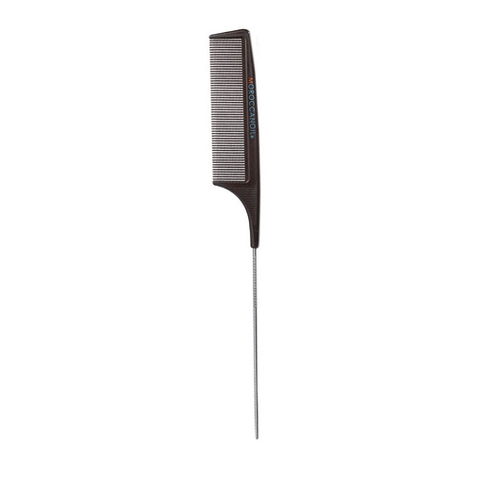 Pieptene Moroccanoil Carbon Combs Metal Tail cu coada din metal - beauty-lounge.ro