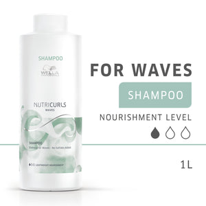 Wella Professional Nutricurls Sampon 1000ml - Waves