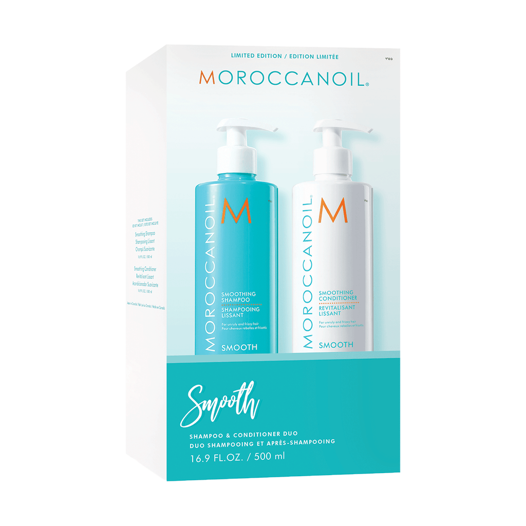 Smooth Duo - Shampoing et Revitalisant Lissant 500 ml de Moroccanoil