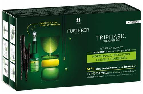 TRIPHASIC traitement perte de volume progressive 8 x 5ml - René Furterer