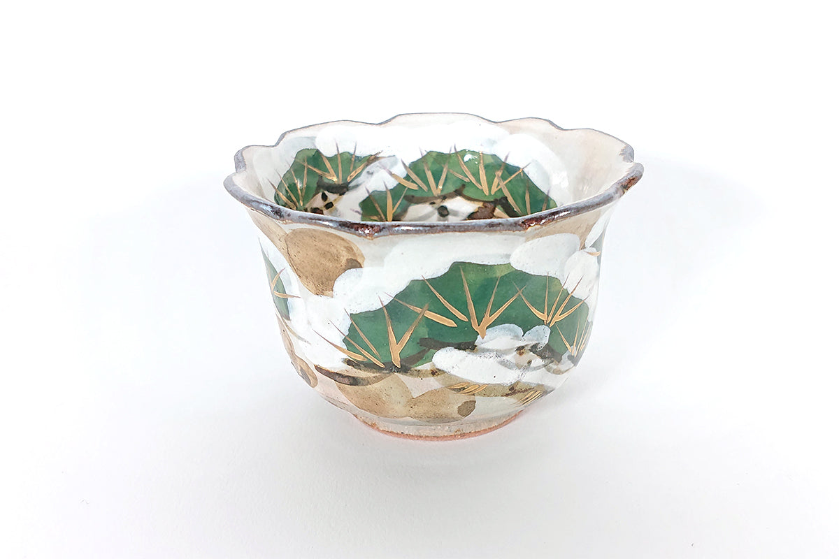 Iroe-Kenzan snow pine tree small bowl