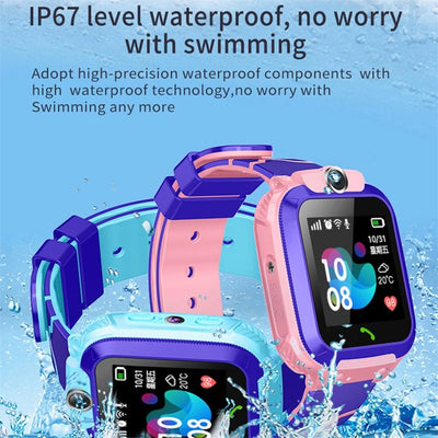 Kids GPS SOS Call Locator, Phone, Touch Screen Smart Watch